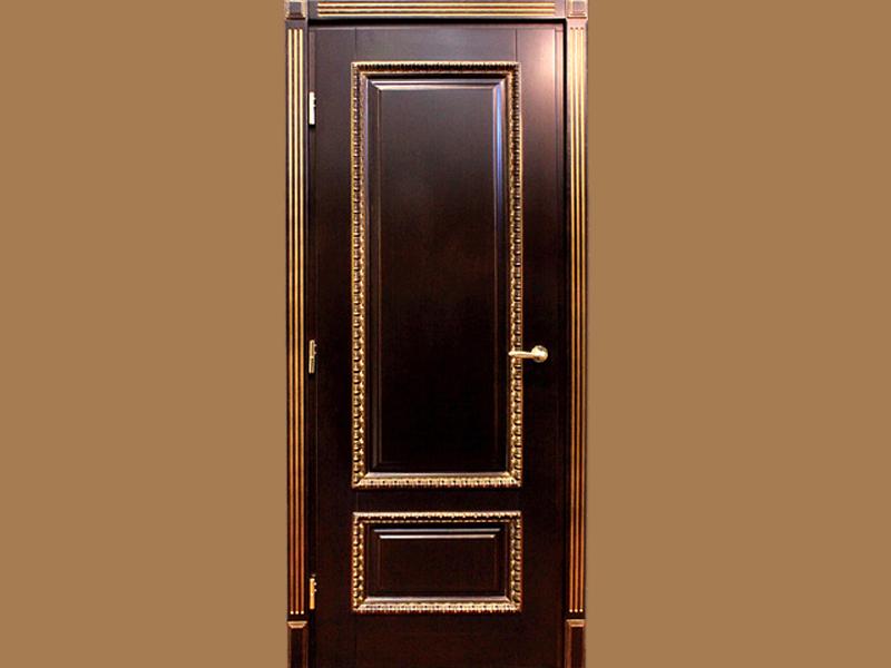 Входная дверь из шпона тонированного дуба