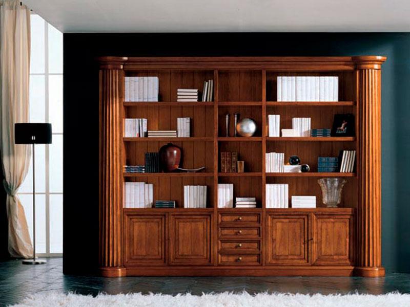 книжный шкаф из дерева дуба