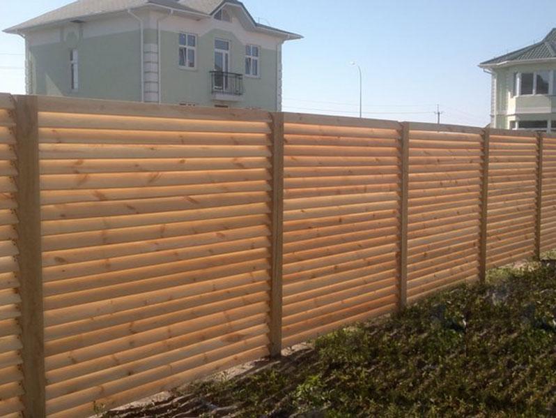 Забор-деревянный-горизонтальный